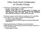 other south south collaboration on climate change