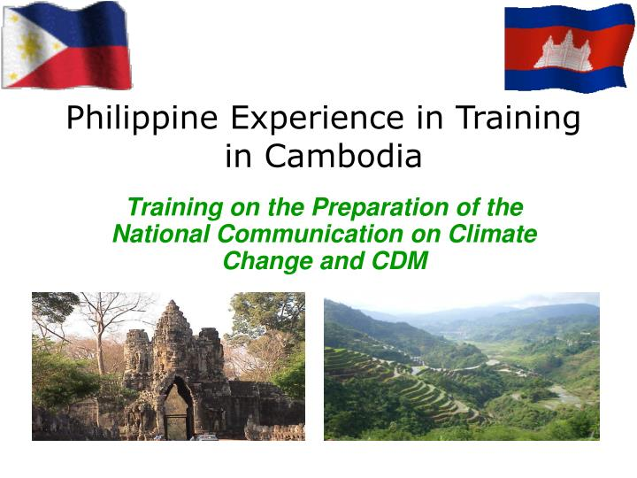 philippine experience in training in cambodia n.