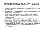 results critical success factors