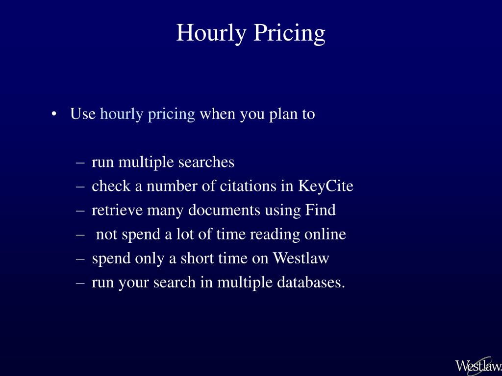 Hourly Pricing