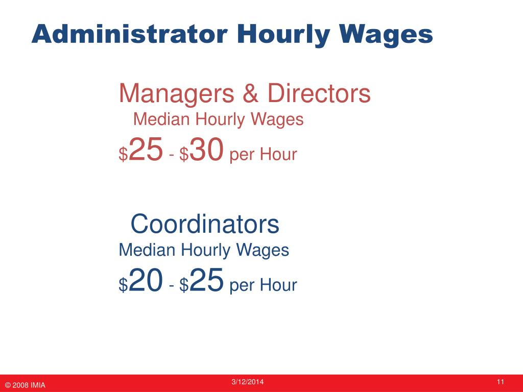 Administrator Hourly Wages