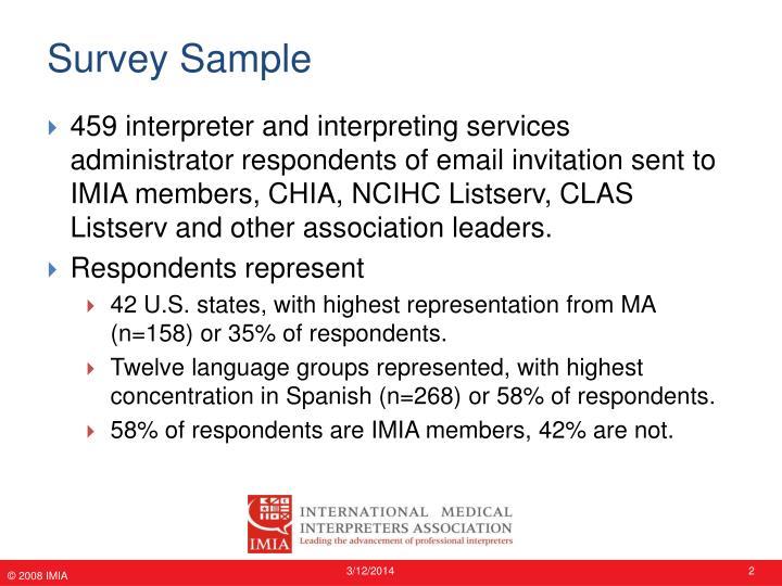 Survey sample