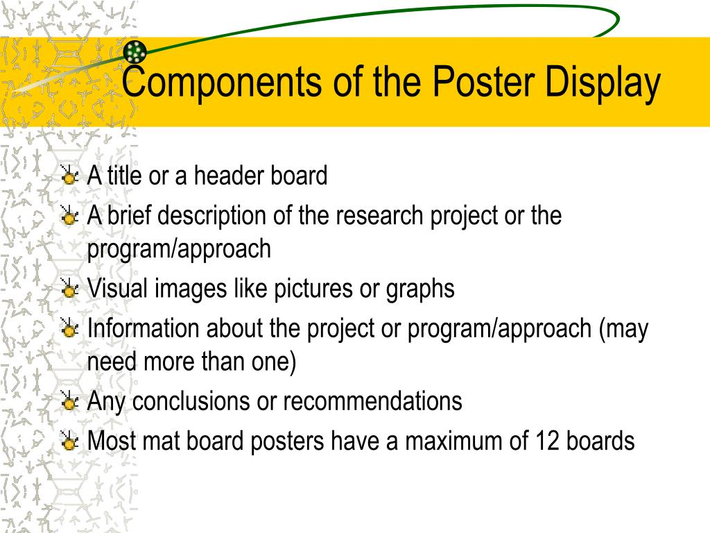Components of the Poster Display