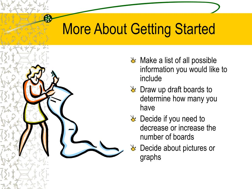 More About Getting Started