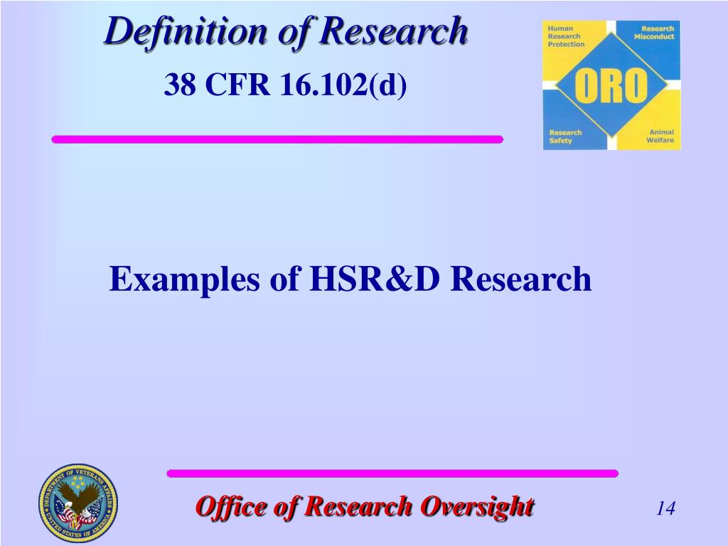 Examples of HSR&D Research