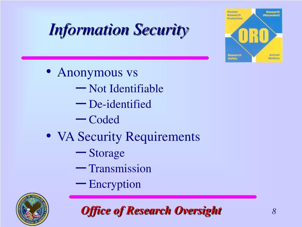 Anonymous vs
