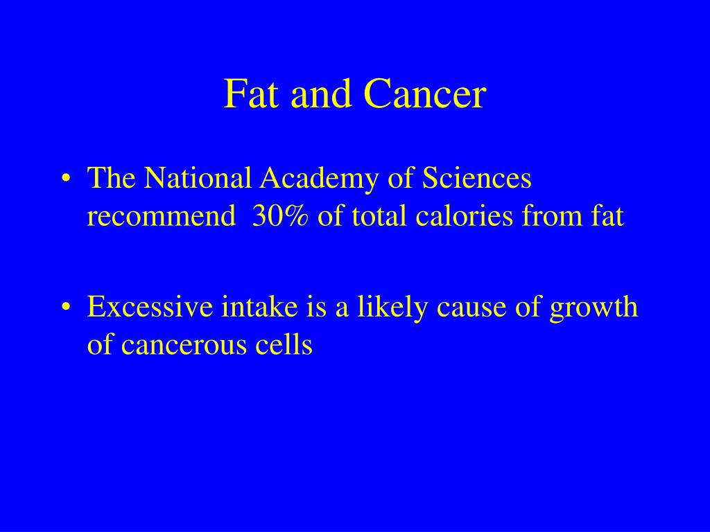 Fat and Cancer