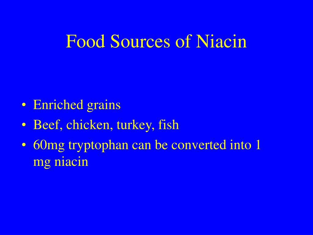 Food Sources of Niacin