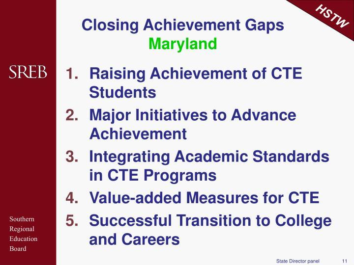 Raising Achievement of CTE Students