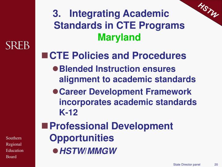 Integrating Academic Standards in CTE Programs