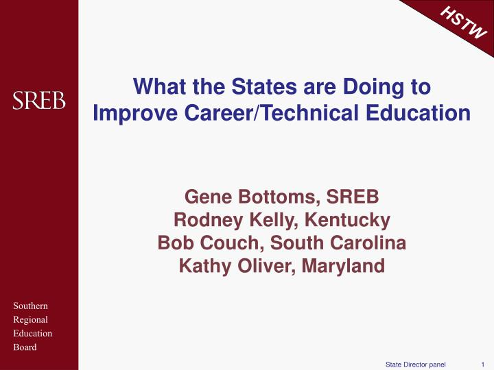 What the States are Doing to Improve Career/Technical Education