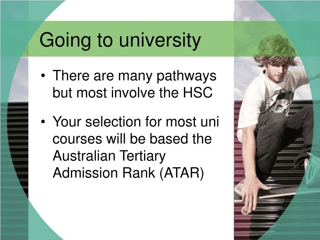 Going to university