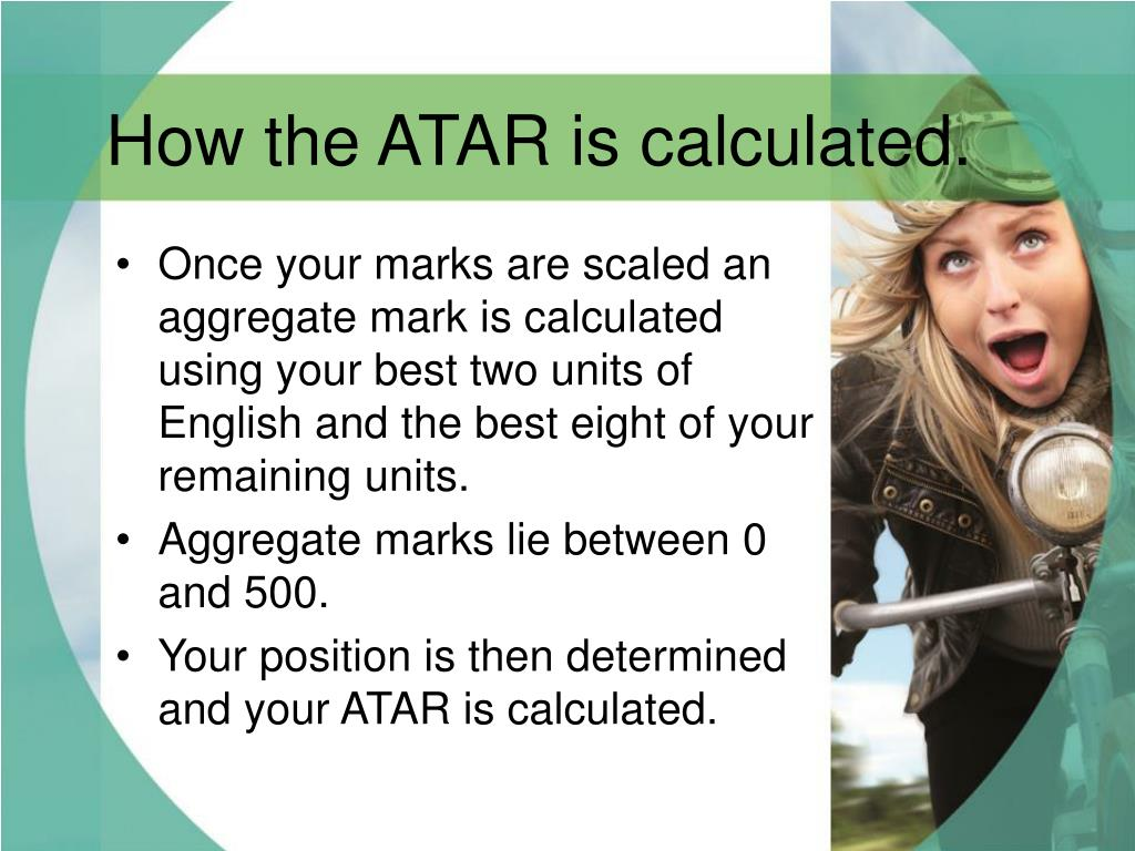 How the ATAR is calculated.