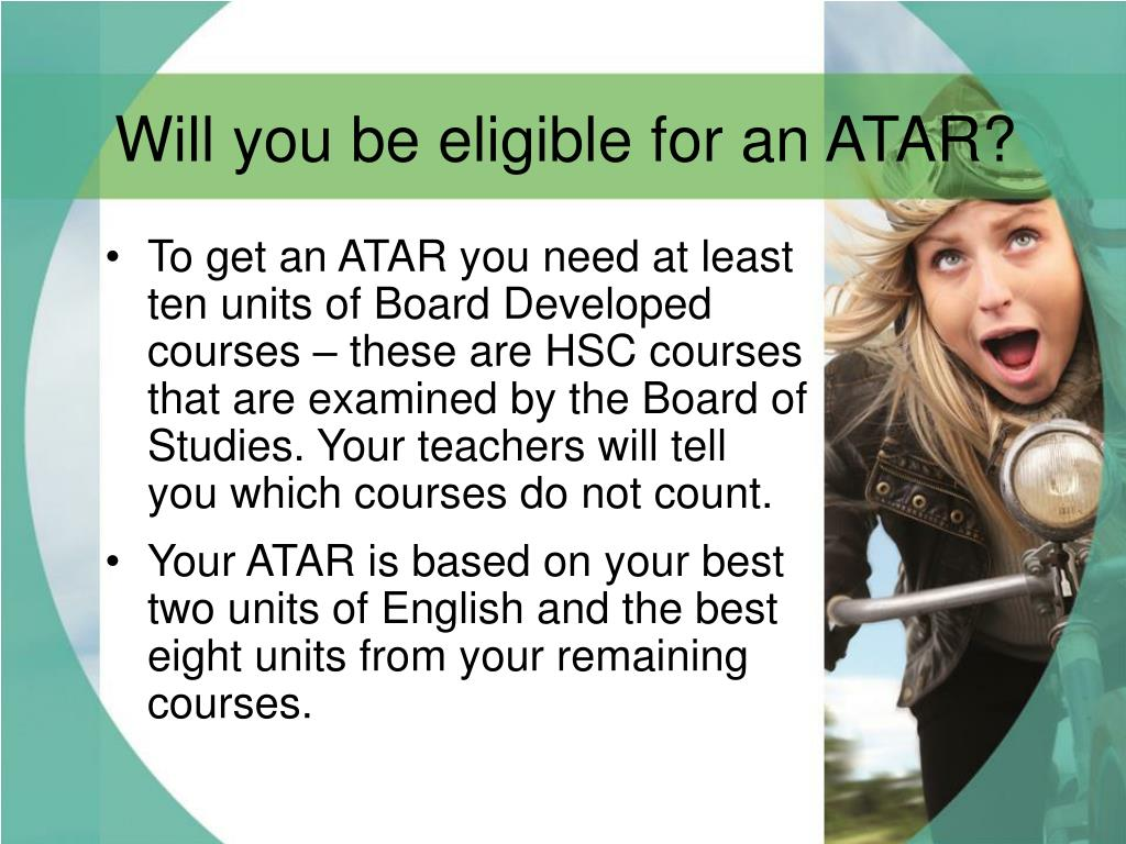 Will you be eligible for an ATAR?