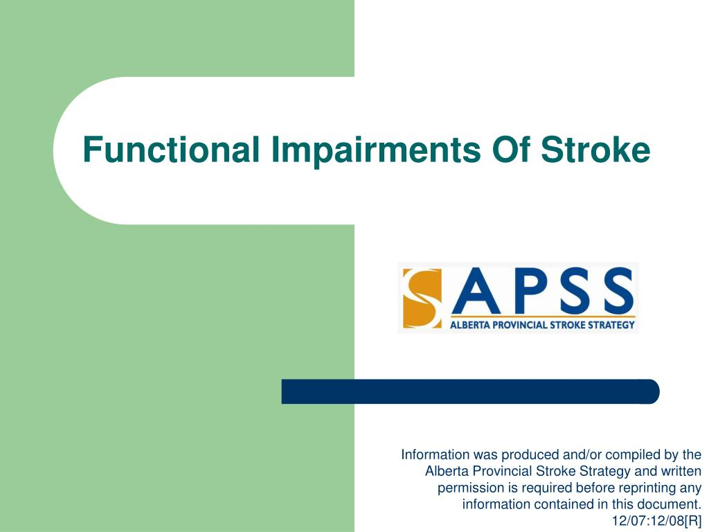 functional impairments of stroke l.