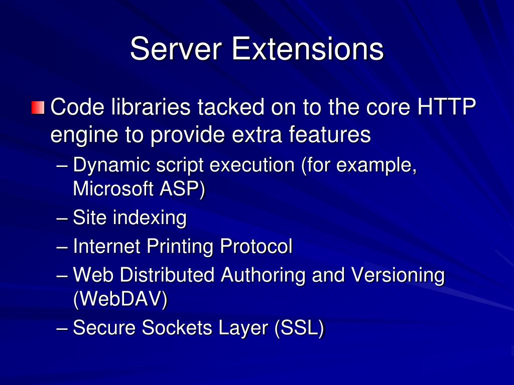 Server Extensions