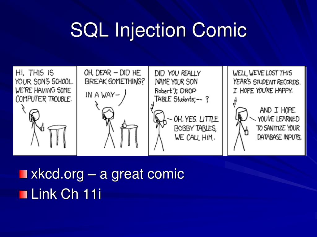 SQL Injection Comic