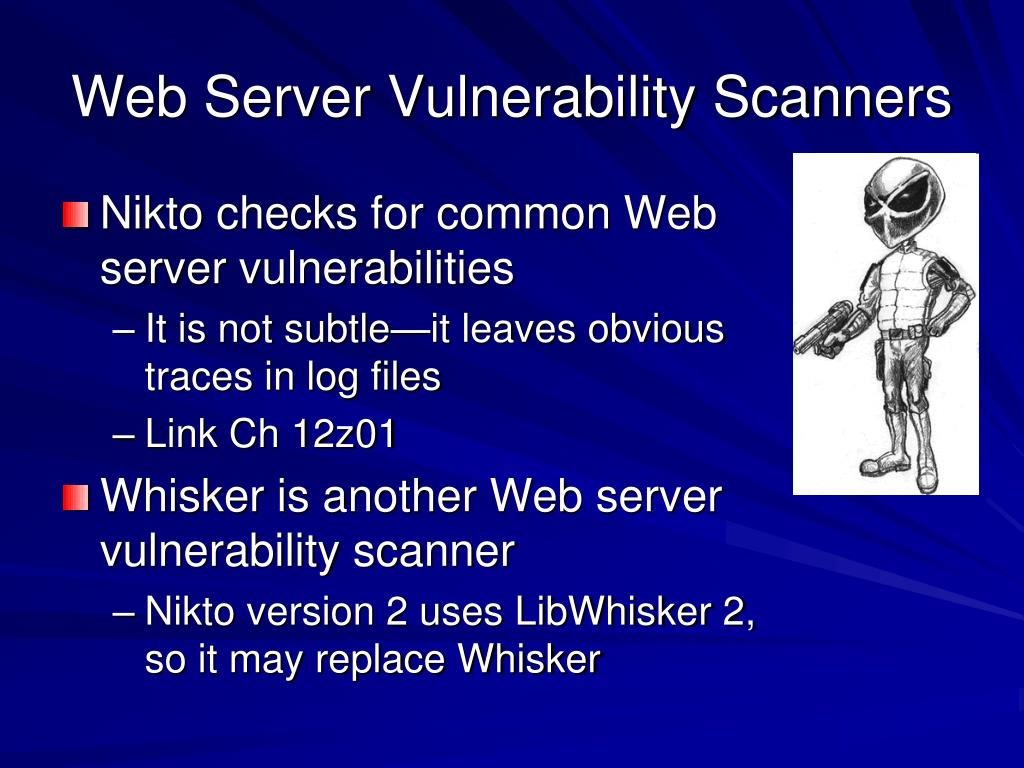Web Server Vulnerability Scanners