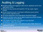 auditing logging