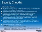 security checklist32