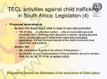 tecl activities against child trafficking in south africa legislation 425