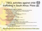 tecl activities against child trafficking in south africa pilots 2