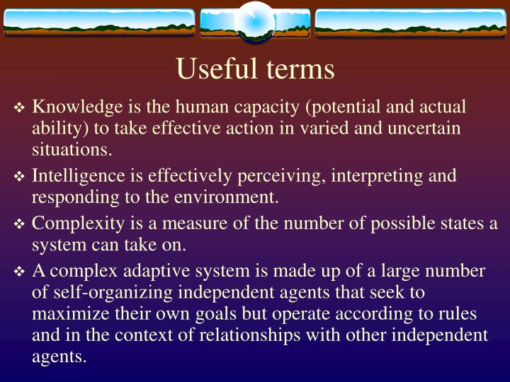 Useful terms