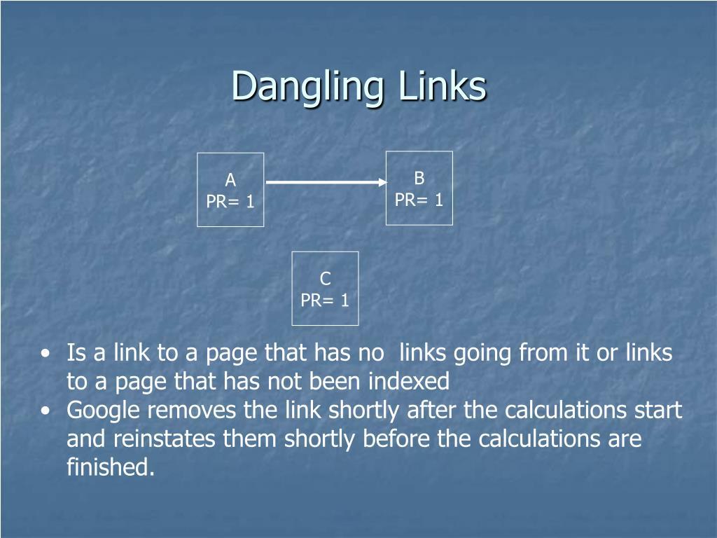 Dangling Links