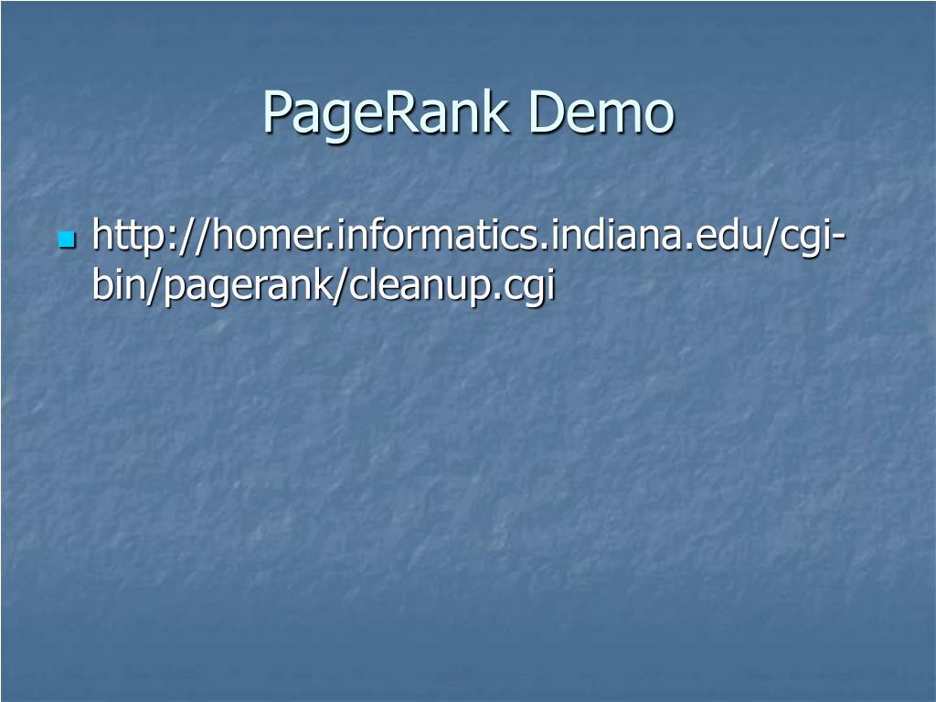 PageRank Demo