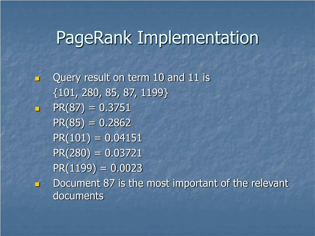 PageRank Implementation