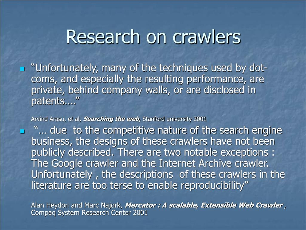 Research on crawlers