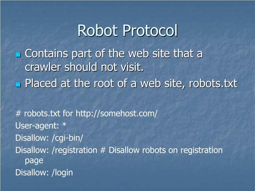 Robot Protocol