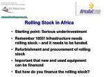 rolling stock in africa