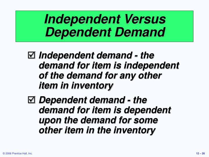 Independent Versus