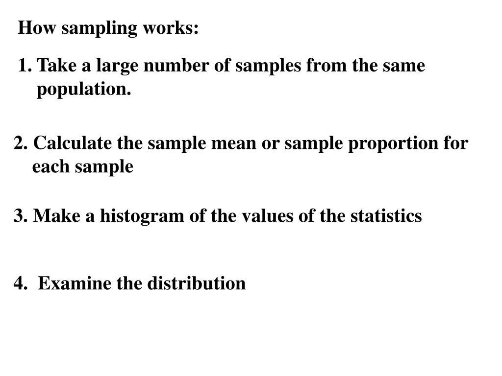 How sampling works:
