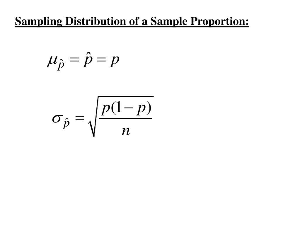 Sampling Distribution of a Sample Proportion: