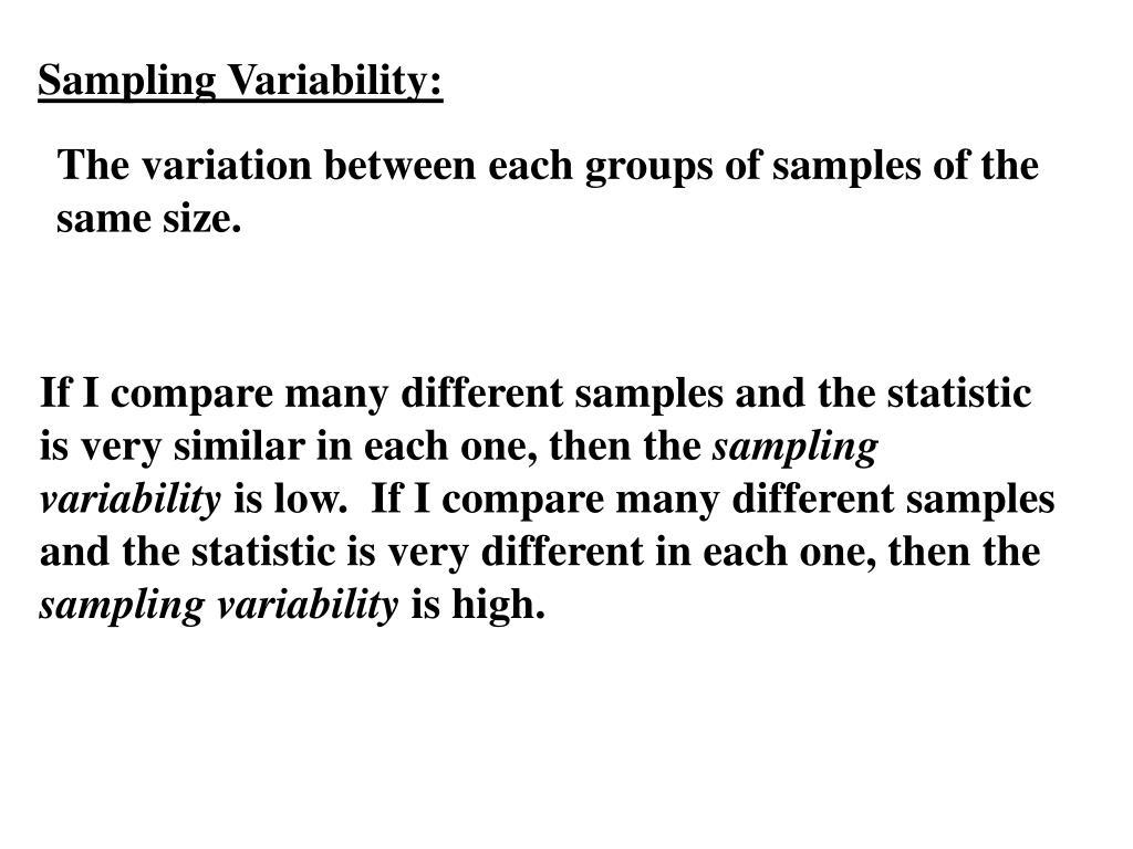 Sampling Variability: