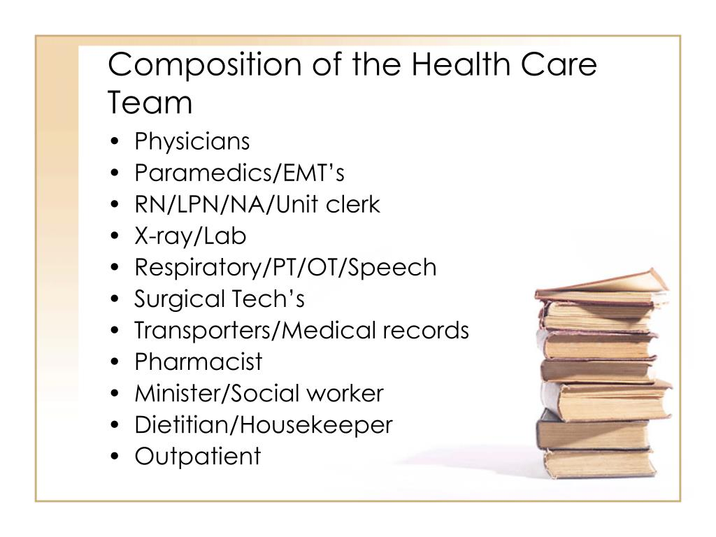 Composition of the Health Care Team