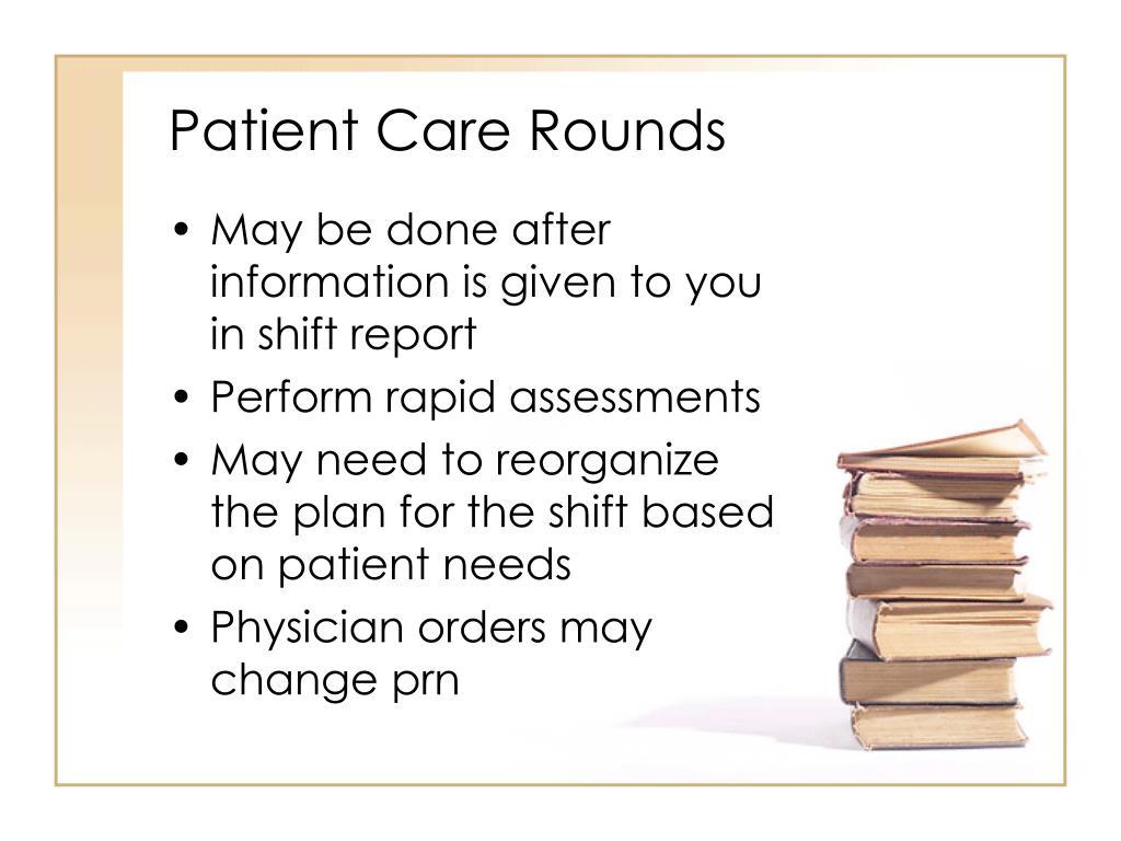 Patient Care Rounds