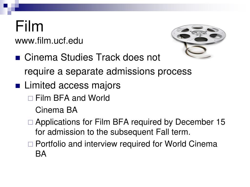 Cinema Studies Track does not