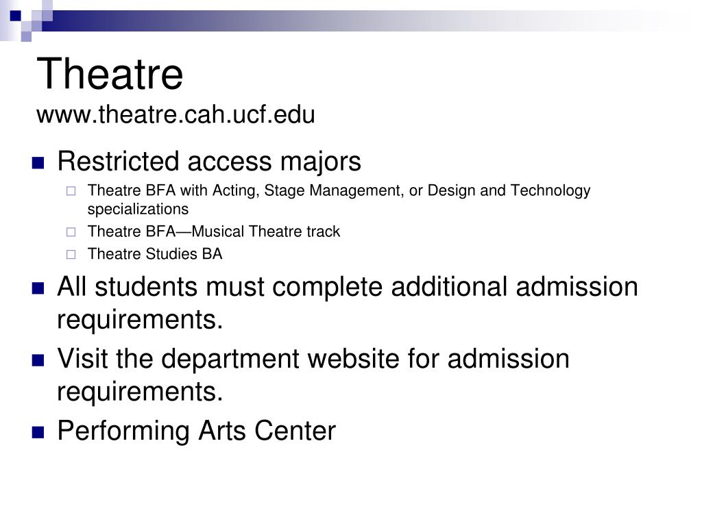 Restricted access majors