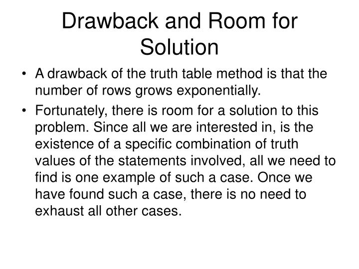 Drawback and Room for Solution
