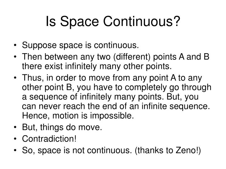 Is Space Continuous?