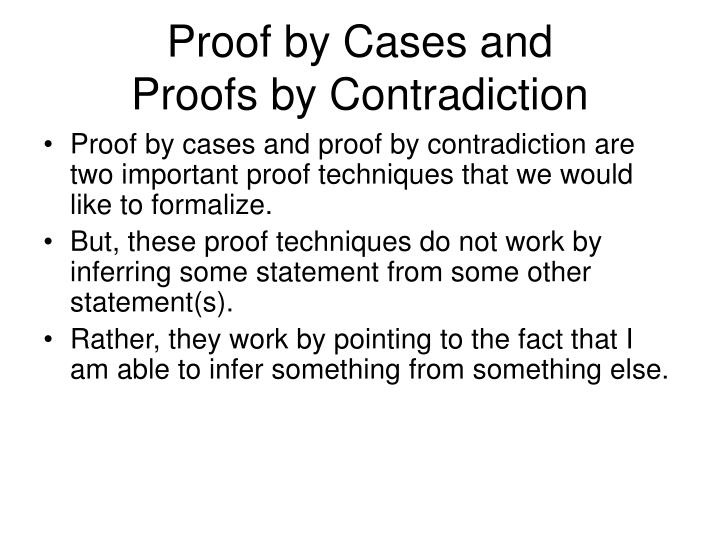 Proof by Cases and