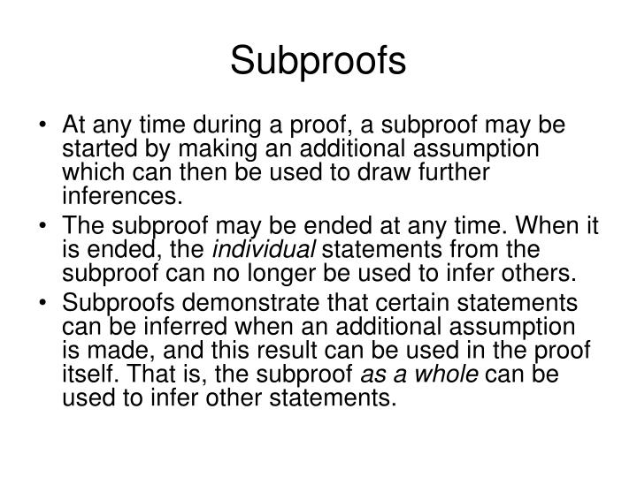 Subproofs