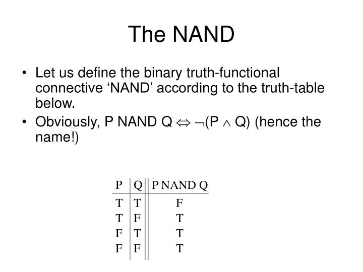 The NAND