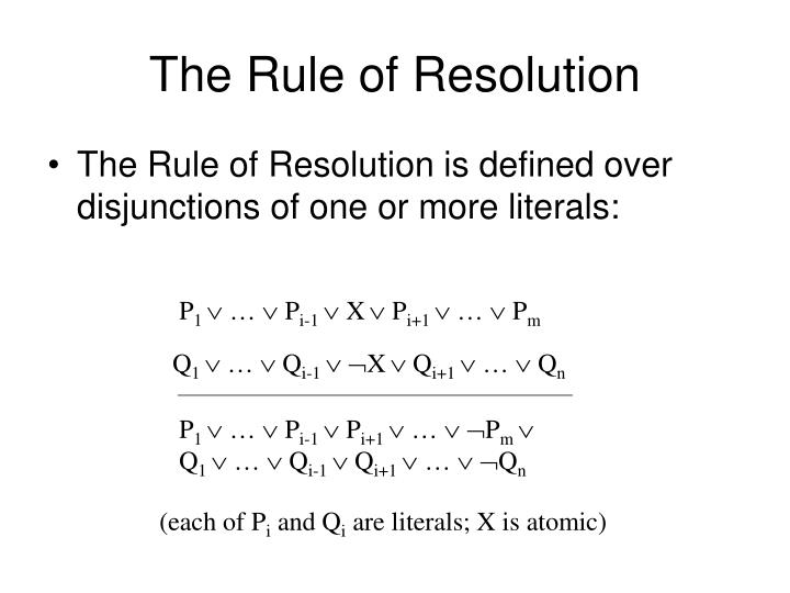 The Rule of Resolution