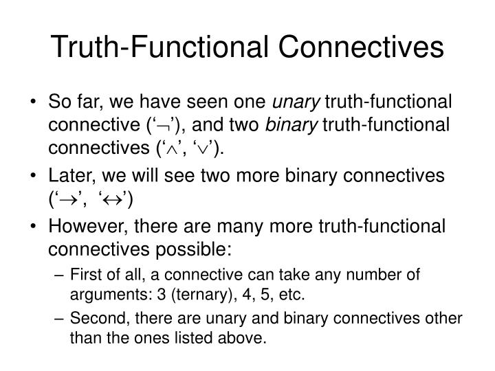 Truth-Functional Connectives