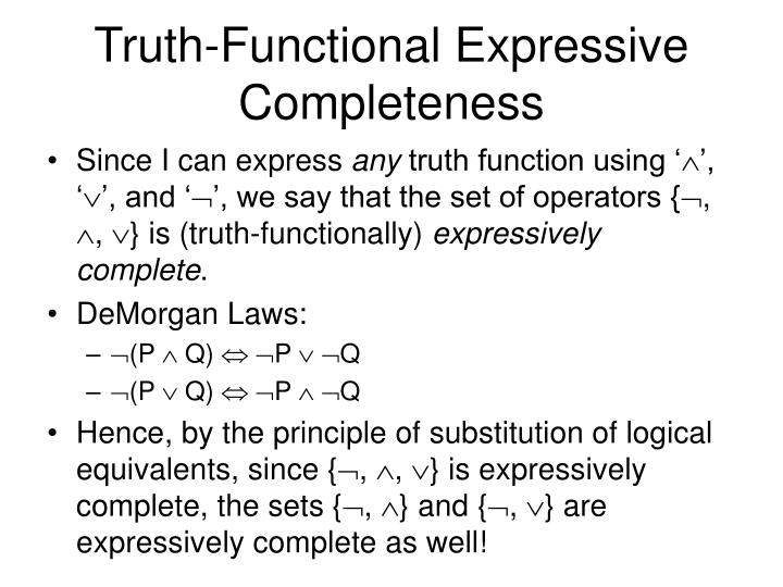 Truth-Functional Expressive Completeness