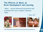 the effects of music on brain development and learning